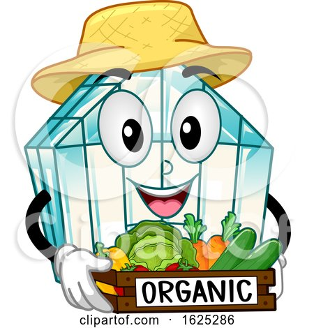 Mascot Green House Organic Vegetables Illustration by BNP Design Studio