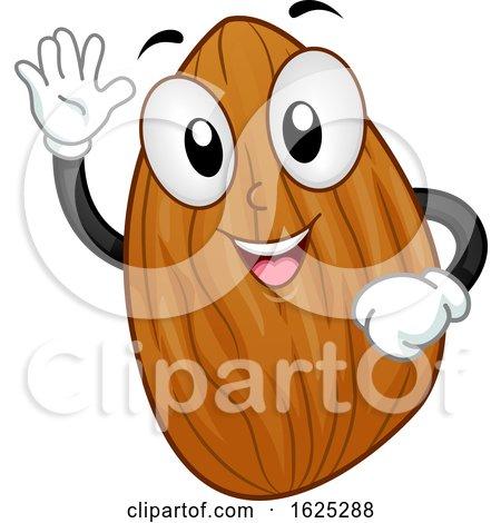 Mascot Almond Nut Illustration by BNP Design Studio