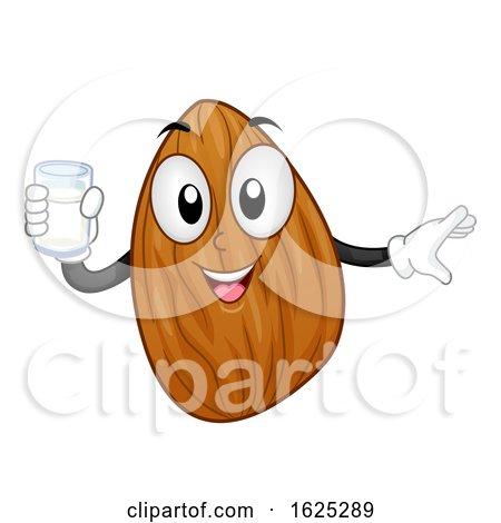 Mascot Almond Nut Milk Illustration by BNP Design Studio