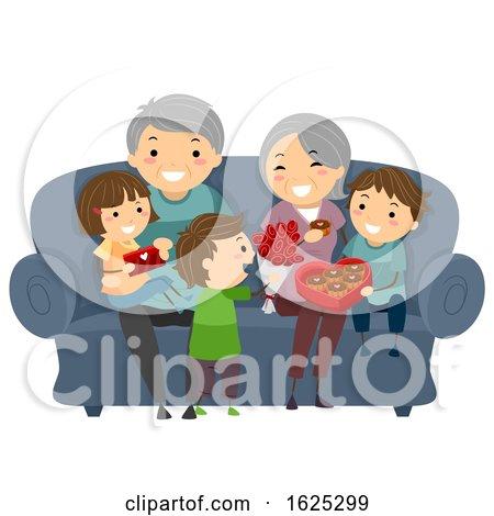 Stickman Senior Grand Children Gifts Valentines by BNP Design Studio