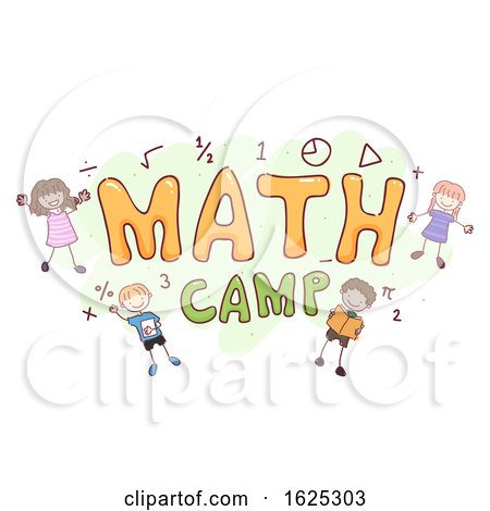 Stickman Kids Math Camp Illustration by BNP Design Studio