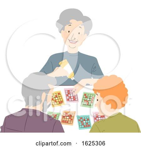 Seniors Play Card Game Illustration by BNP Design Studio