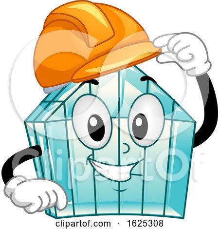 Mascot Green House Hard Hat Illustration by BNP Design Studio