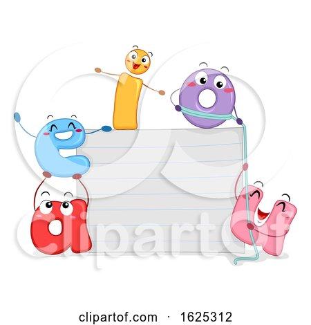 Mascot Vowels Paper Board Illustration by BNP Design Studio
