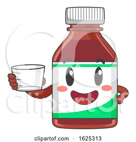 Mascot Vitamin Syrup Cup Illustration by BNP Design Studio
