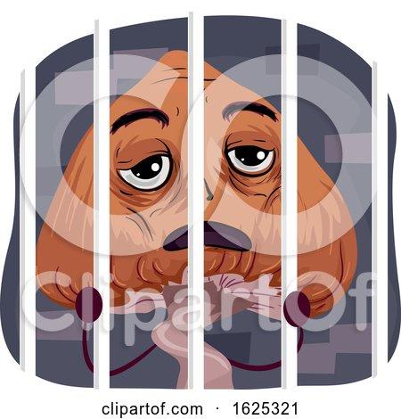 Mascot Psychedelic Mushroom Behind Bars by BNP Design Studio