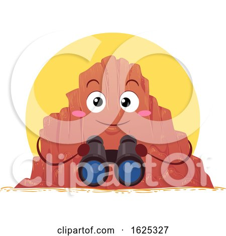 Mascot Canyon Binoculars Illustration by BNP Design Studio