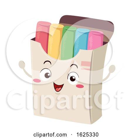 Mascot Colored Chalk Box Illustration by BNP Design Studio