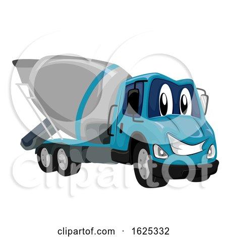Mascot Cement Mixer Truck Illustration by BNP Design Studio