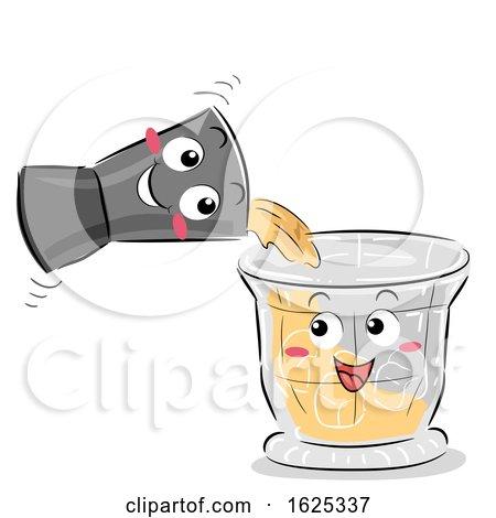 Mascot Jigger Cocktail Shaker Illustration by BNP Design Studio