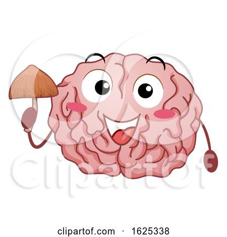 Mascot Magic Mushroom Brain Effect Illustration by BNP Design Studio