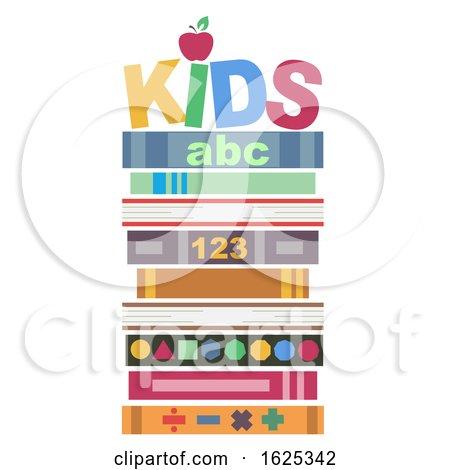 Books Pile Kids Illustration by BNP Design Studio