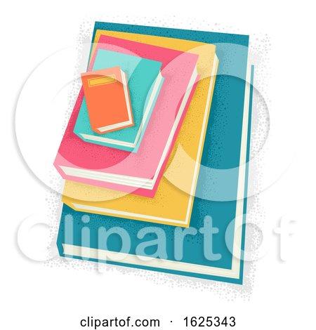 Books Pile Small Big Illustration by BNP Design Studio