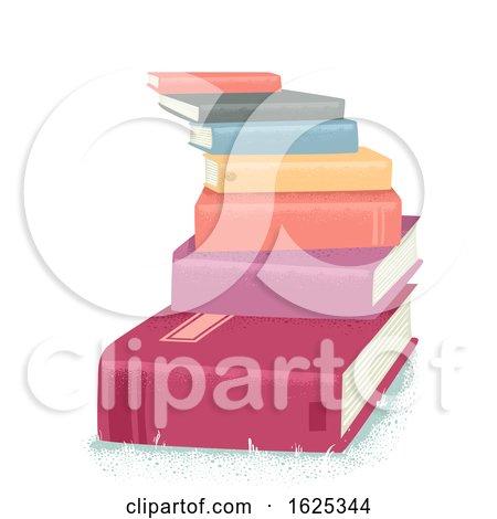 Books Stairs Pile Illustration by BNP Design Studio