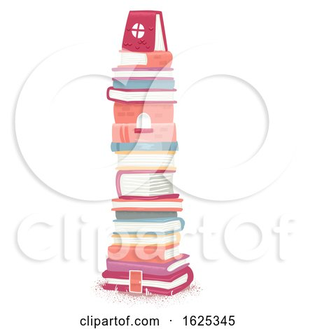 Books Tower Illustration by BNP Design Studio