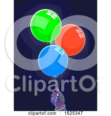 Kid Hand Glow in the Dark Balloon Party by BNP Design Studio
