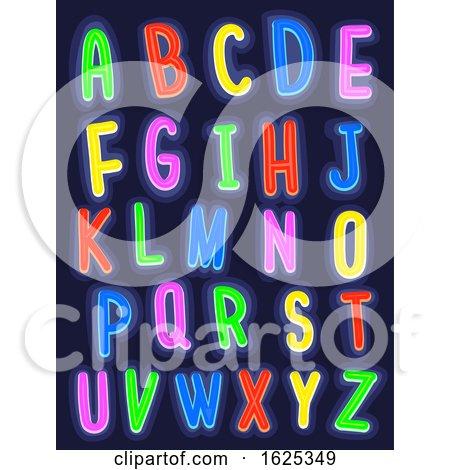 Glow in the Dark Alphabet Illustration by BNP Design Studio