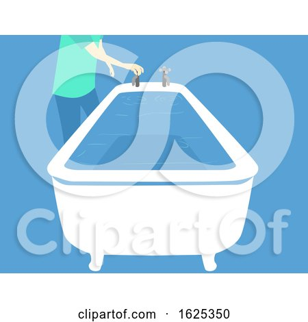 Hurricane Preparedness Fill Bathtub Illustration by BNP Design Studio