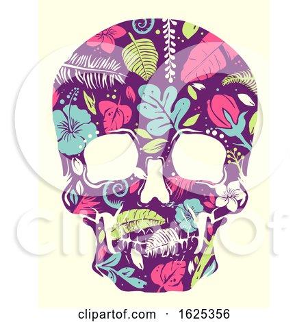 Tropical Skull Illustration by BNP Design Studio