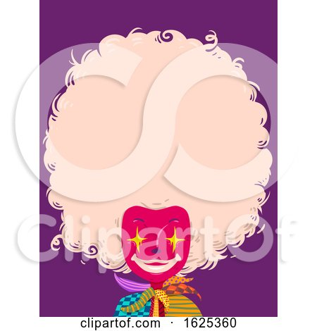 Clown Hair Copyspace Illustration by BNP Design Studio