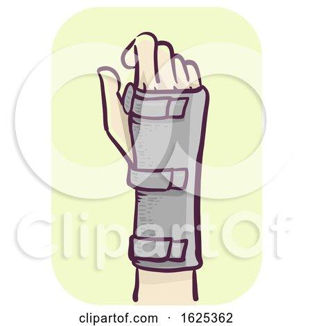 Hand Wrist Support Illustration by BNP Design Studio