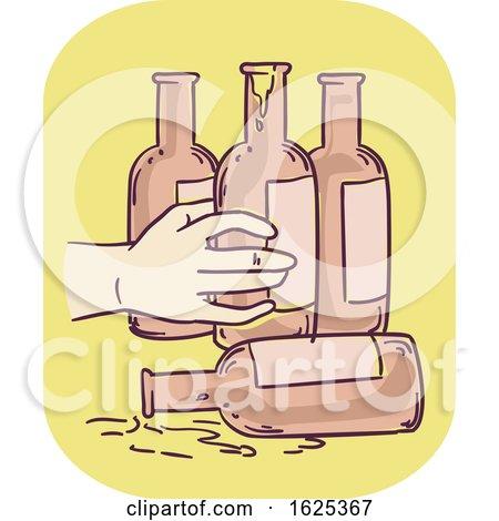 Hand Symptom Alcoholic Illustration by BNP Design Studio