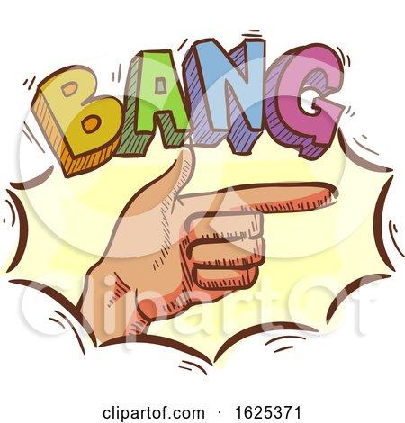 Finger Gun Hand Bang Illustration by BNP Design Studio