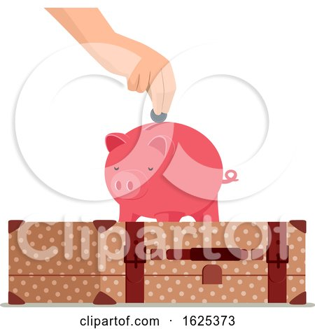 Hand Travel Save Piggy Bank Illustration by BNP Design Studio