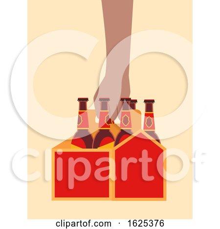 Hand Carrier Box Beer Illustration by BNP Design Studio