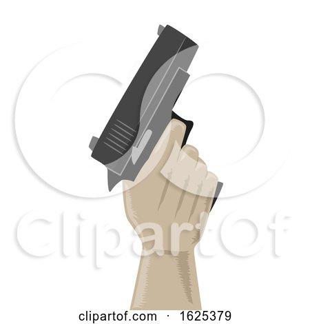 Hand Hold Gun Illustration by BNP Design Studio