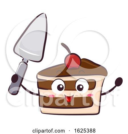Mascot Cake Cutlery Knife Illustration by BNP Design Studio