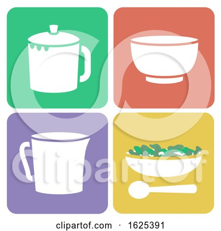 Tea Tasting Set Illustration by BNP Design Studio
