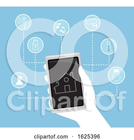 Hand Smart House Device Illustration by BNP Design Studio