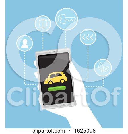 Hand Car Rental Illustration by BNP Design Studio
