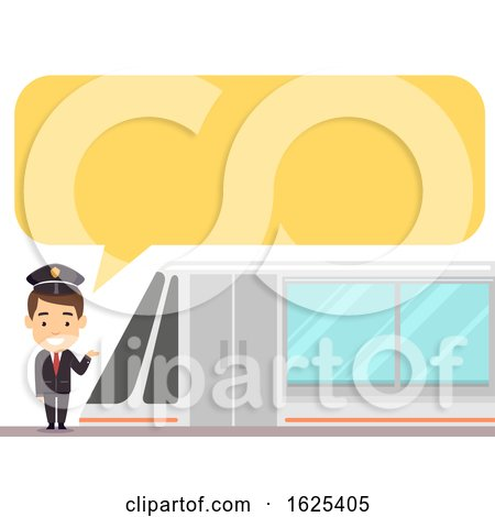 Train Driver Speech Bubble Illustration by BNP Design Studio