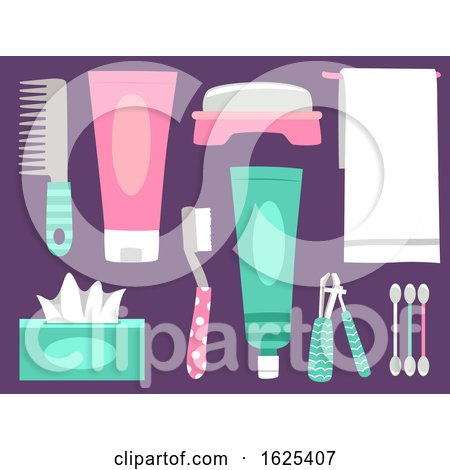 Personal Hygiene Elements Illustration by BNP Design Studio