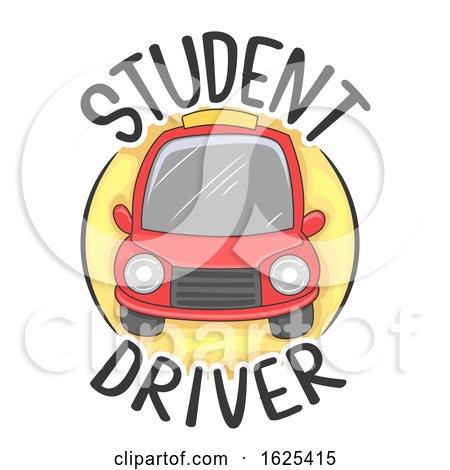 Car Student Driver Icon Illustration by BNP Design Studio
