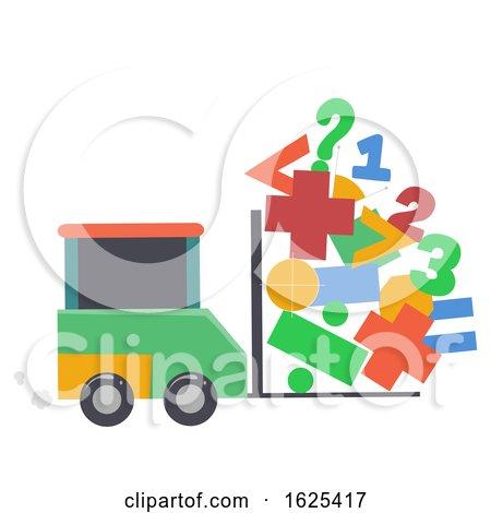 Car Math Symbol Lift Illustration by BNP Design Studio