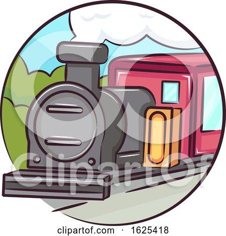 Icon Old Train Illustration by BNP Design Studio