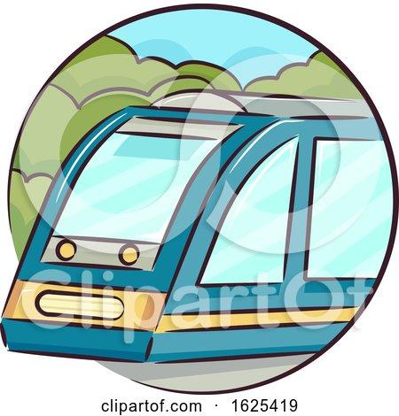 Icon Train Illustration by BNP Design Studio