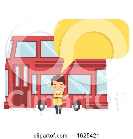 Man Double Decker Bus Illustration by BNP Design Studio