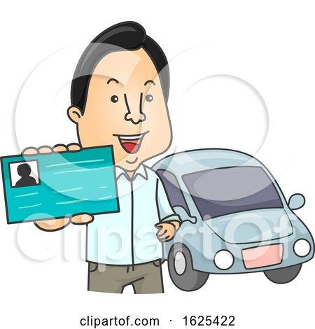 Man Driver License Illustration by BNP Design Studio