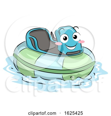 Mascot Bumper Boat Illustration by BNP Design Studio