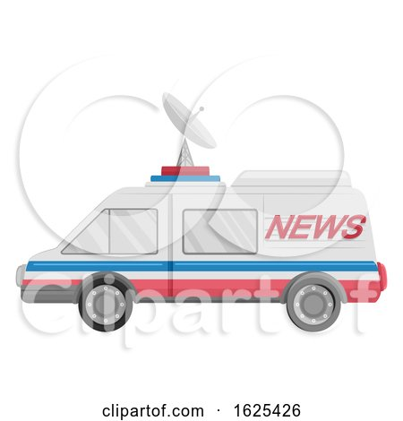 News Van Vehicle Illustration by BNP Design Studio