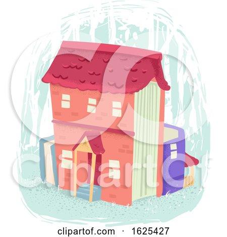 Books House Illustration by BNP Design Studio