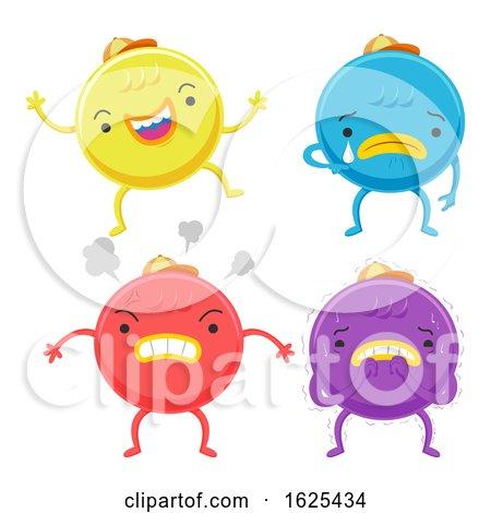 Cute Monster Emotion Colors Illustration by BNP Design Studio