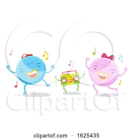 Cute Monsters Dancing Illustration by BNP Design Studio