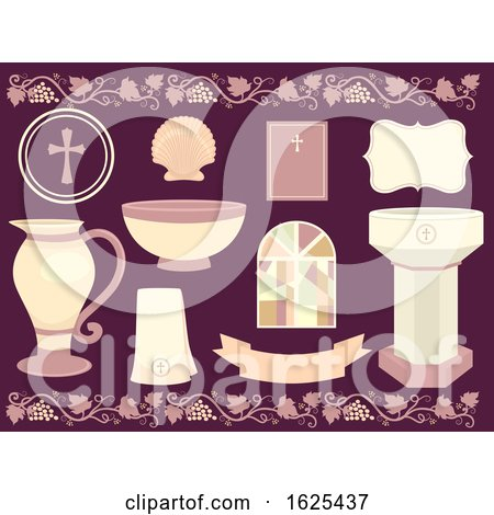 Baptism Elements Illustration by BNP Design Studio