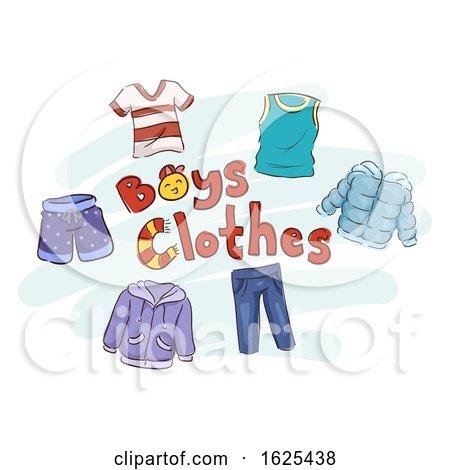 Boys Clothes Illustration by BNP Design Studio