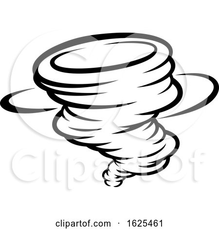 Tornado Twister Cyclone or Hurricane Icon Concept by AtStockIllustration